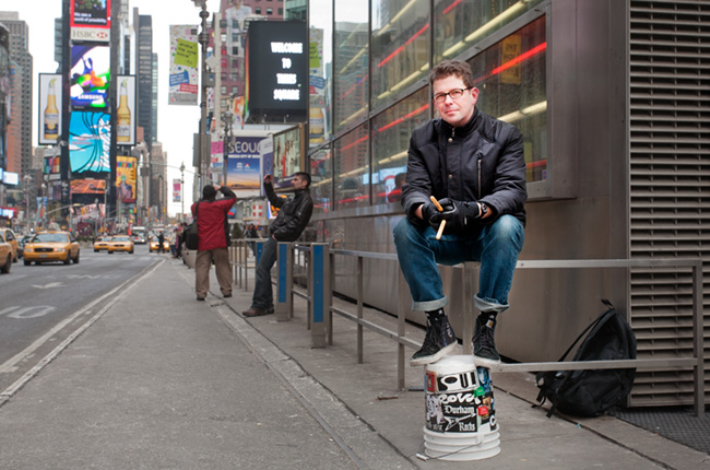 Troy Campbell, photographed in Times Square ©Tony Gale